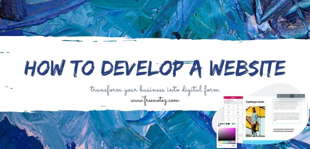 How to develop a website?