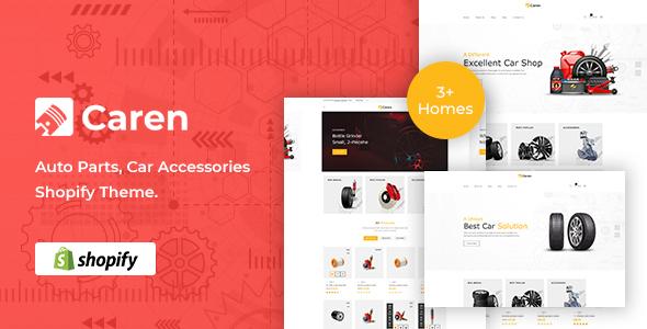 Caren Shopify Theme Free Download Auto Parts, Car Accessories