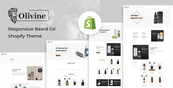Olivine Shopify Theme Free Download - Responsive Beard Oil 2021