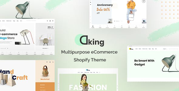 Dking – Multipurpose eCommerce Shopify Theme Free Download 2021