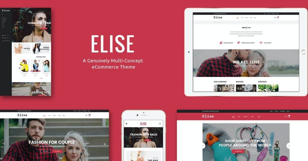 Elise - A Genuinely Multi-Concept Shopify Theme Free Download