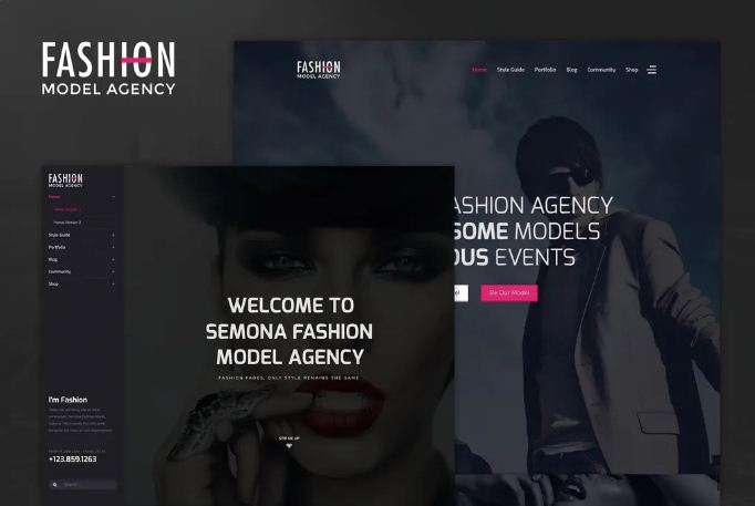 Fashion Joomla Template Free Download - Model Agency & Photograph
