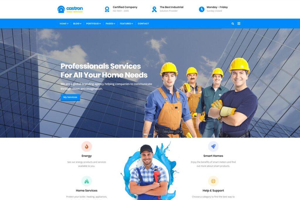castron - home maintenance drupal 8 themes free download