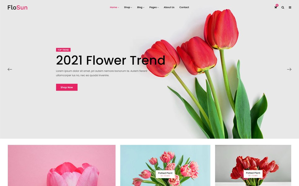 Flosun - Flower Shop Shopify Theme Free Download