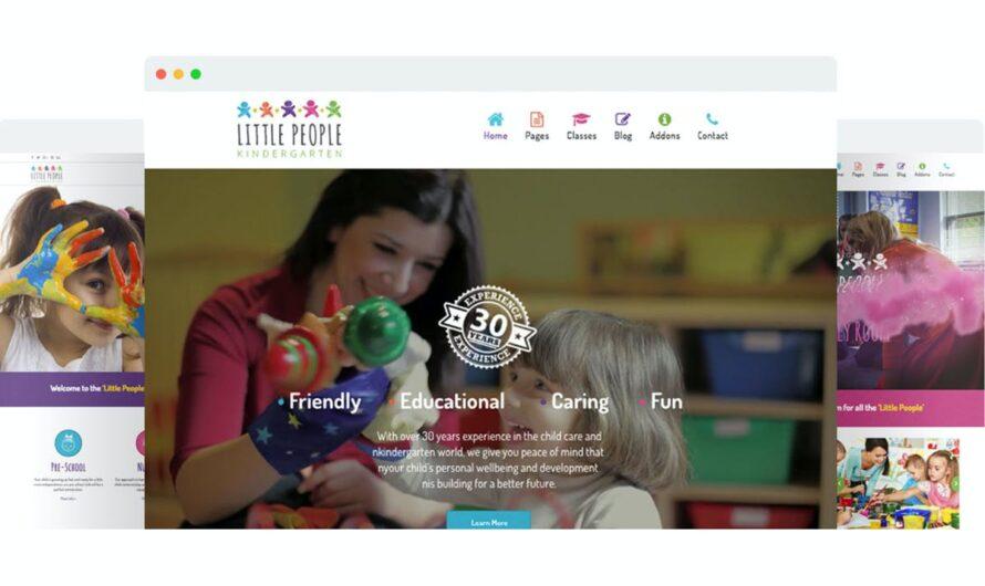 Little People Joomla Template Free Download | Kindergarten Joomla Template
