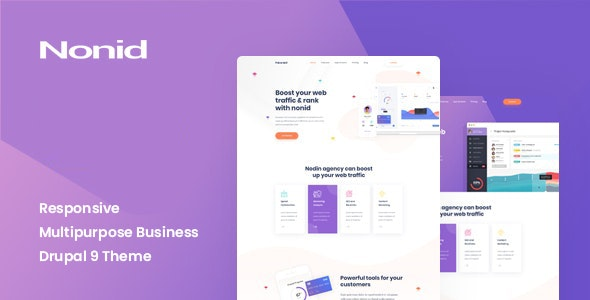 Free Download Nonid - Responsive Business Drupal Theme 2021