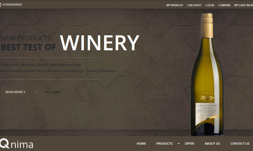 Wine Store Magento Theme Free Download CE 1.9.x