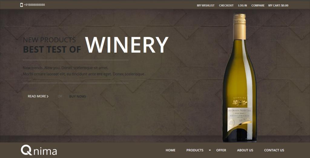 Wine Store Magento Theme Free Download