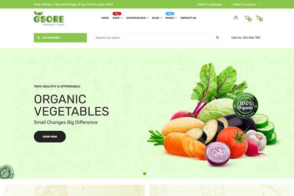 Harmic Pro Organic Food Shopify Theme Free Download
