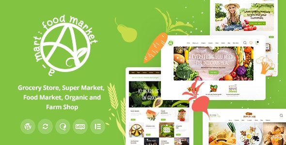 A-Mart v1.0.1 – Organic Products Shop WordPress Theme