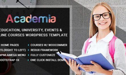 Academia v2.5 – Education Center WordPress Theme