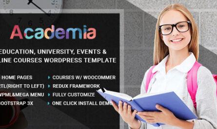 Academia v3.6 – Education Center WordPress Theme