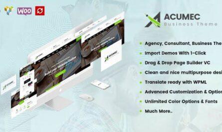 Acumec 1.5.0 – Business Multipurpose WordPress Theme - WordPress Theme