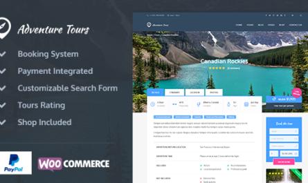 Adventure Tours v4.1.5 – WordPress Tour/Travel Theme