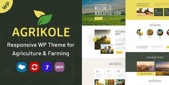 Agrikole v1.7 – Responsive WordPress Theme for Agriculture & Farming
