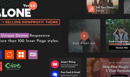 Alone v6.1 – Charity Multipurpose Non-profit WordPress Theme