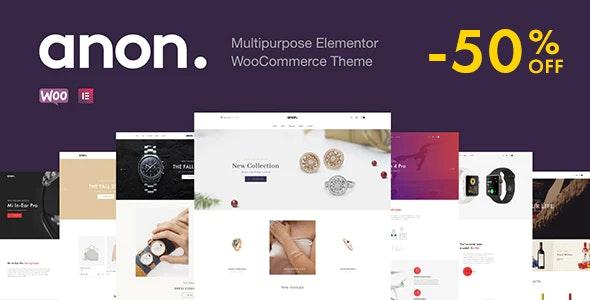 Anon v1.7.6 – Multipurpose Elementor WooCommerce Theme