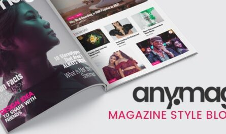 Anymag v2.1.2 – Magazine Style WordPress Blog