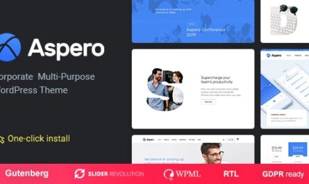 Aspero v1.0.5 – Business WordPress Theme