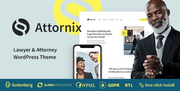 Attornix v1.0.2 – Lawyer WordPress Theme