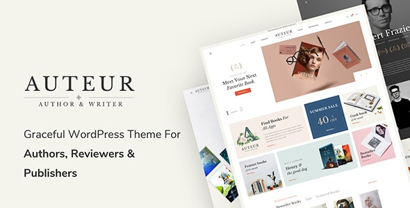 Auteur v4.7 – WordPress Theme for Authors and Publishers - WordPress Theme,