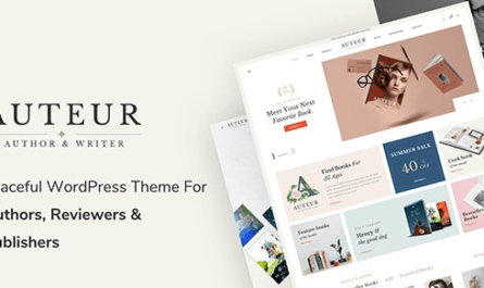 Auteur - WordPress Theme for Authors and Publishers