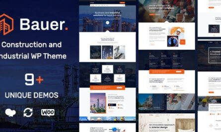 Bauer v1.11 – Construction and Industrial WordPress Theme