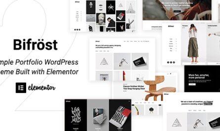 Bifrost v2.1.9 – Simple Portfolio WordPress Theme