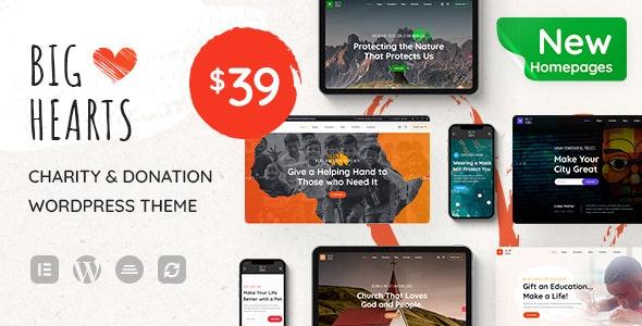 BigHearts v1.0.9 – Charity & Donation WordPress Theme