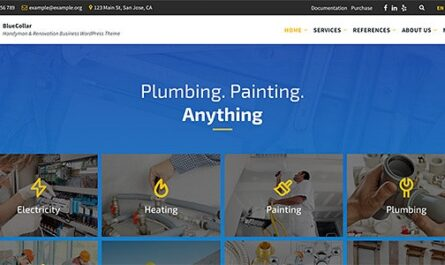 BlueCollar v2.6.1 – Handyman & Renovation Business WordPress Theme