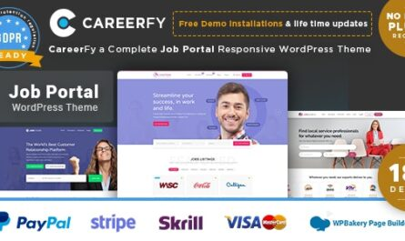 Careerfy v5.6.0 – Job Board WordPress Theme