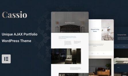 Cassio v2.6.1 – AJAX Portfolio WordPress Theme