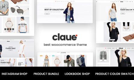Claue 2.1.6 – Clean, Minimal Elementor WooCommerce Theme Free Download