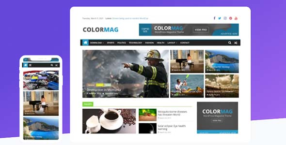 ColorMag Pro v3.1.6 – Magazine & News Style WordPress Theme - WordPress