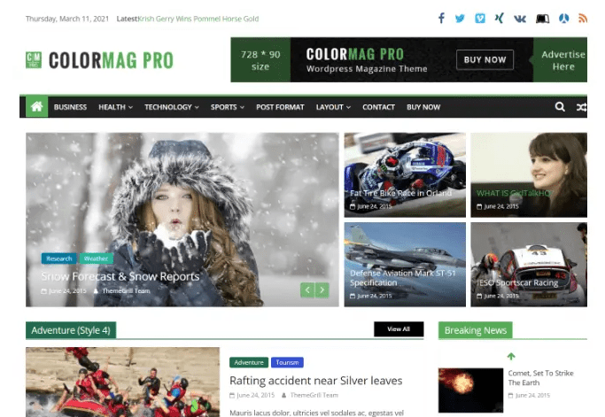 ColorMag Pro - Magazine & News Style WordPress Theme