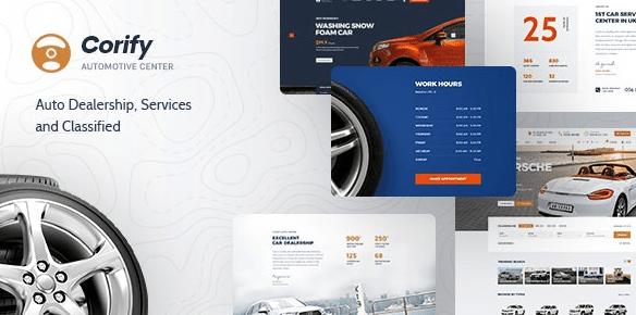 Corify v1.0.9 - WordPress Car Listings & Dealership Theme