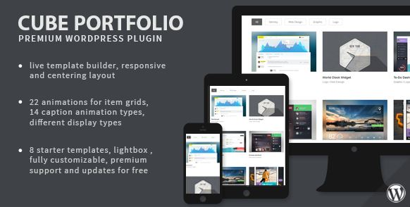 Cube Portfolio Responsive WordPress Grid Plugin