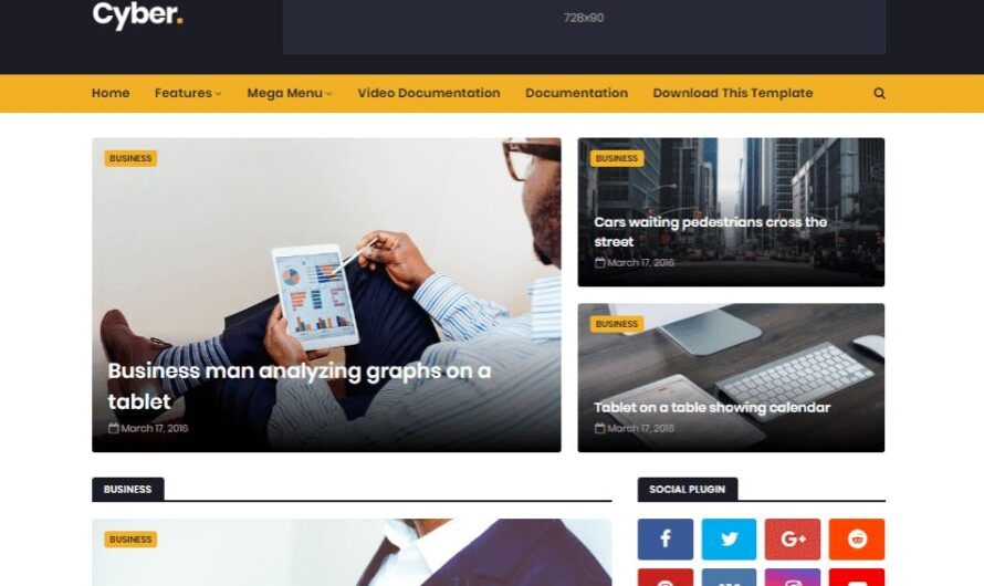 Cyber News Blogger Template Free Download