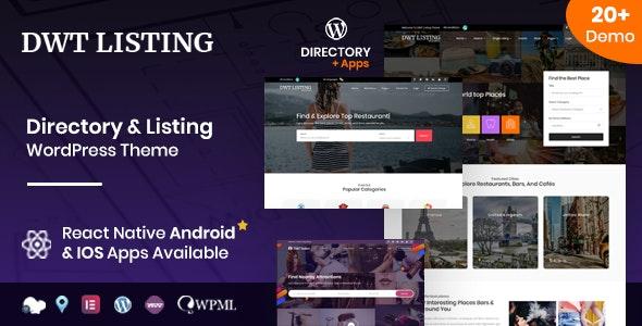 DWT Listing v3.2.0 – Directory & Listing WordPress Theme - WordPress Theme,
