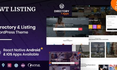 DWT v3.1.8 – Directory & Listing WordPress Theme