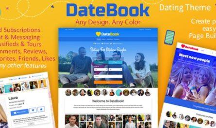 DateBook v4.5.6 – Dating WordPress Theme