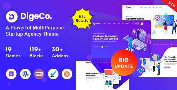 Digeco v1.7.2 – Startup Agency WordPress Theme
