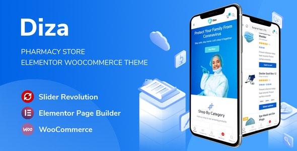 Diza v1.1.6 – Pharmacy Store Elementor WooCommerce Theme