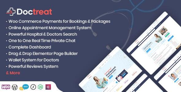 Doctreat free download - Doctors Directory WordPress Theme v1.4.2 -