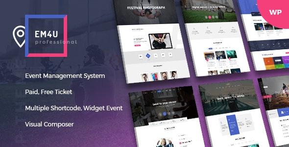 EM4U 1.4.4 – Events WordPress Theme for Booking Tickets -