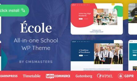 Ecole 1.0.3 – Education & School WordPress Theme - WordPress Theme,