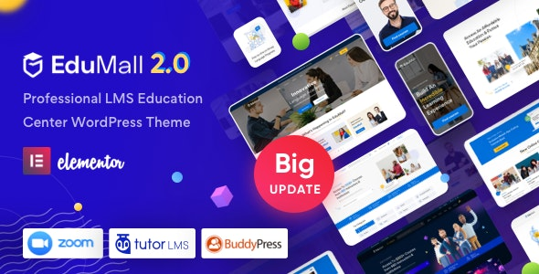 EduMall v2.6.2 – Professional LMS Education Center WordPress Theme