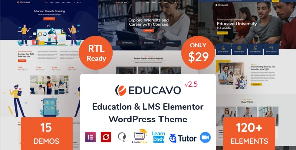 Educavo 2.7.6 – Online Courses & Education WordPress Theme