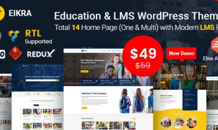 Eikra Education v3.8.2 – Education WordPress Theme