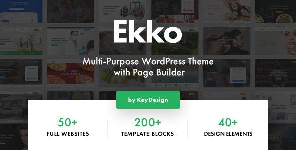 Ekko v2.6 – Multi-Purpose WordPress Theme with Page Builder